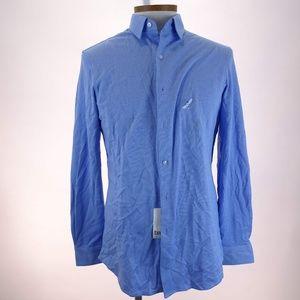 Bar III Mens Blue Slim Fit Long Sleeve Dress Shirt